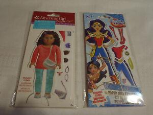 Reusable Clings Paper Dolls Stylist Set NIP Wonder Woman American Girl