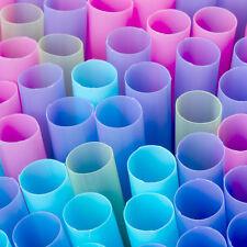 "100 Jumbo Straws (1/2"" Dia) Cake Dowel Colossal Straw Bubble Tea Plastic BOBA"