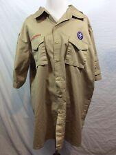 Boy Scout Uniform Shirt 67% Cotton 33% Polyester Mens Adult Extra Large Xl Patch