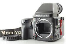 *NEAR MINT*  Mamiya 645 PRO Body w/ AE Finder + Winder Grip From JAPAN