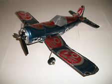 Aluminum soda can handcaft airplane/MILLER 64/CORSAIR