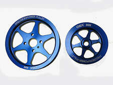 OBX Power Pulley Fit For 97-01 Hyundai Tiburon 2.L 4 cyl Blue