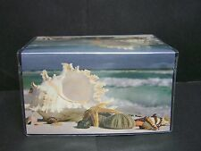 SEA SHELLS STARFISH ON BEACH OCEAN WAVES   IMAGE 1  VINYL CHECKBOOK COVER