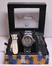 Men's TECHNO MASTER TM-2124 Genuine Diamond Quartz Wrist Watch *NIB*