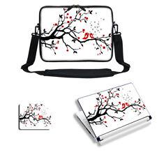 "13"" 13.3"" Laptop Sleeve Case w Shoulder Strap & Matching Skin Mouse Pad 2619"