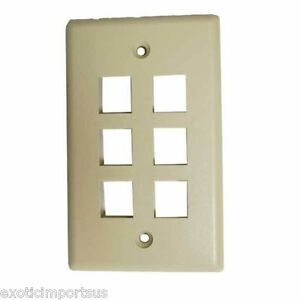 New 6 Port Face Ivory FACE-6-IV plate Original Sealed 30-92121 Wall Plug