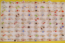 Jewelry Wholesale Lots 10pcs mixed style Rhinestone Gold Plated Ring FREE