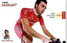 CYCLISME carte cycliste YANN HUGUET équipe COFIDIS 2008