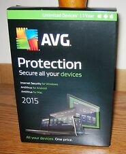 AVG Internet & Antivirus Protection 2015 Unlimited PC/Mac/Android - 1 year