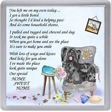"Skye Terrier Dog Coaster ""HOME SWEET HOME Poem .."" Novelty Gift by Starprint"