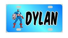 CAPTAIN AMERICA MINI LICENSE PLATE Any Name Personalized Kids Bicycles Wagons