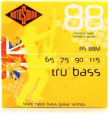 Rotosound RS88M Tru Bass 88 Black Nylon Flatwound Bass Guitar Strings - Medium S