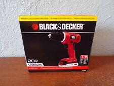 BLACK & DECKER 30 Piece Cordless Drill Driver  20v Battery Tools Set (LD120VA)
