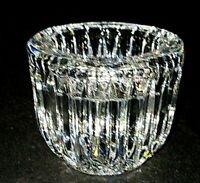 1 (One) WATERFORD GIFTWARE Cut Lead Crystal Votive Candle Holder - Signed