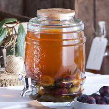 5 litri Kilner Barrel BIBITE DISPENSER IN VETRO Acqua Bevande Succo Soft PARTY TAP