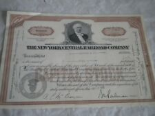 Vintage share certificate Stocks BondsNew York Central Railroad company