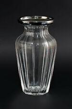 99830274 Kristall-Vase mit versilberter Montierung
