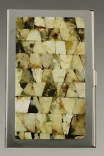 Genuine White BALTIC AMBER Mosaic Credit/Business Card CASE Holder 181002-20
