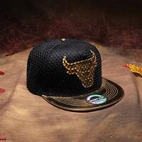 Fashion Mens Brim Snapback Hat Baseball Cap Adjustable Hip Hop Bboy Hat Unisex