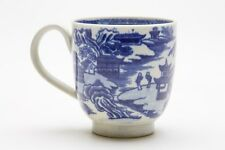 Antico caughley cineserie Blue & White Coffee Cup 18TH C