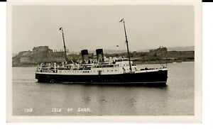 SS Isle of Sark - Operated 1932-1960 Rare picture!!. RP. Unused. WW2.