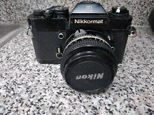 New ListingNikon Nikkormat El 35mm Film Camera with Nikkor 50mm f/2 Lens