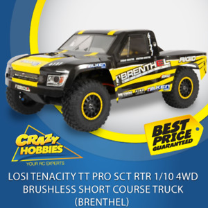 Losi Tenacity TT Pro SCT RTR 1/10 4WD Brushless Short Course Truck (Brenthel) Or