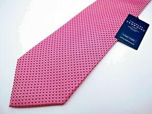 NWT Charles Tyrwhitt Jermyn St. Mens Neck Tie 100% Silk Designer Pink Thick