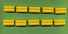 Lego -- 3001 -- Basic -- primera piedra --- amarillo -- 2 x 4 --- 10 unidades -