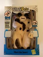 Feisty Pets Mort The Snort Spotted Pig Plush Animal Shows Teeth When Squeezed
