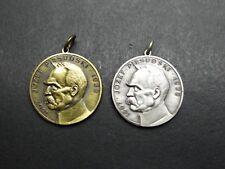 2 kleine einseitige Medaillen Józef Piłsudski 1867 - 1935 Silber Bronze F. Polen