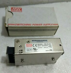 Meanwell Power Supply RS-25-24 - 100-240VAC 0.7A 50/60Hz