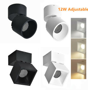 12W LED COB Ceiling Lamp Adjustable Fixture Picture Surface Mounted Spotlight