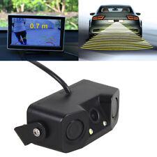 3in1 Car Parking Reversing Radar Sensors Rear View Backup 170° Camera Kit 12V