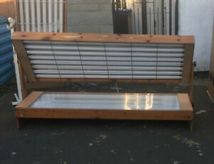 16 tube pine 100watt Wooden laydown Sunbed CAN DELIVER MOST OF UK mess for £