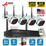 Security Camera System Wireless Home 1080P HD 4CH WIFI NVR CCTV Outdoor 2TB HDD