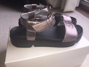 Giorgio Armani Metalic Logo Sandals