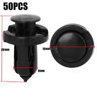 50x 8mm Plastique Rivet Clips Pare-chocs de Retenue Fastener Pour Nissan Toyota