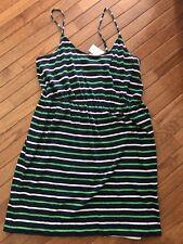 J crew ~ Women's Striped Knit Dress ~ Navy Green White ~ NWT