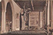 POSTCARD   NORFOLK  ALDEBURGH  St peters &  St  Pauls  Church  ( Interior )