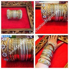 Indian/Pakistani Bridal Gold & Silver Bangles, Churi, 2*10 For One Hands