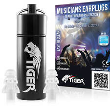 More details for tiger musicians earplugs noise cancelling hearing protection, festivals, gigs