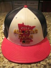 new arrival d51bc ae4eb 2014 all star game leather hat minnesota new era 9fifty snap back red black  rare