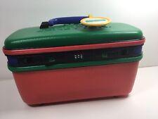 Vintage United Colors Of Benetton Vanity Travel Train Luggage Case Hardshell