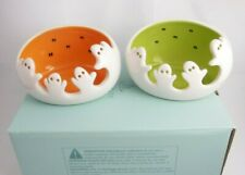 Partylite Spooky Ghost Tealight Candle Holders Pair Halloween P9778 (itemab4t)