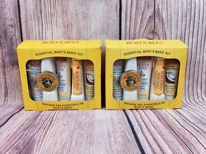 Lot of 2 Burt's Bees 5 Piece Essentials Kit
