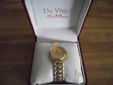 """DAVINCI WATCH BY LUCIEN PICCARD MENS 1"""" FACE WATER RESISTANT TO 100 FT JAPAN"""
