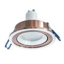 Faretto tondo bicolore incasso cartongesso 7cm supporto lampada luce LED 5W GU10