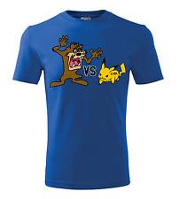 New Colour Fashion S - XXL Pokemons Taz vs Pikachu Gift Men Funny T shirt 0039
