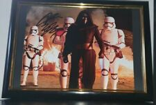 ADAM DRIVER - HAND SIGNED WITH COA KYLO REN STAR WARS PHOTO 8x10 PHOTO FRAMED
